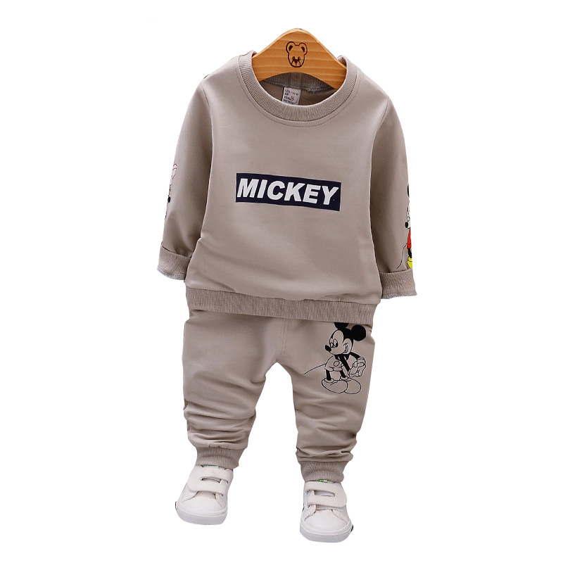 Baby Boys Clothes Sets For Girls 2018 Autumn Hot Full Sleeve Mickey T-shirt Pants Toddler Tracksuits Children Kids Clothes Sets