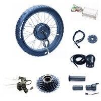 Voor of achter motor 50 km/u 48 v 1000 w Fat tire ebike kit met 48 v 13.2ah Samsung Driehoek Lithium accu
