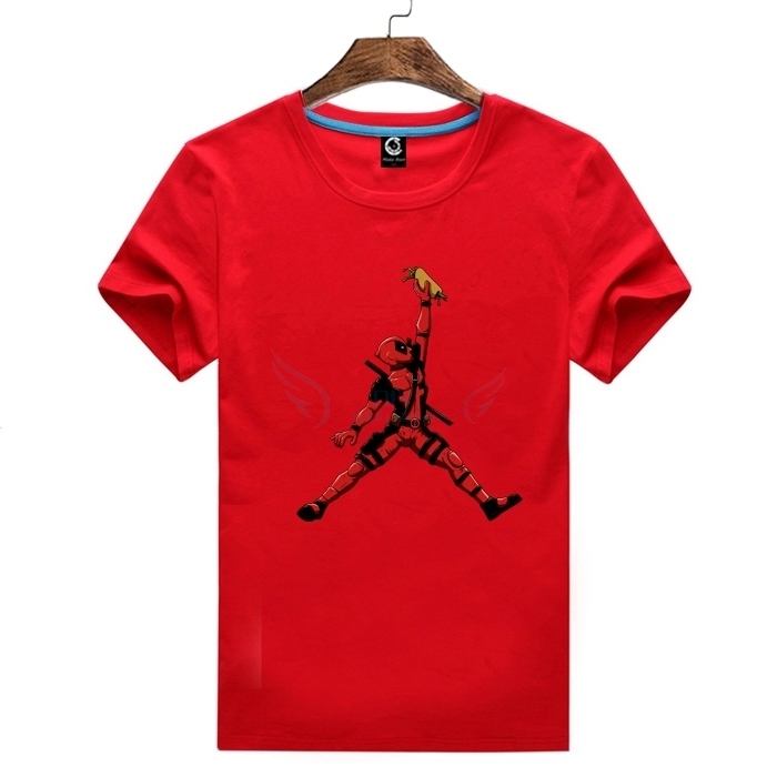 32425ebea2a4 2018 Deadpool Jordan Tee T shirt Man Casual Short Sleeve T Shirts 100%  Cotton For Fans-in T-Shirts from Men s Clothing on Aliexpress.com