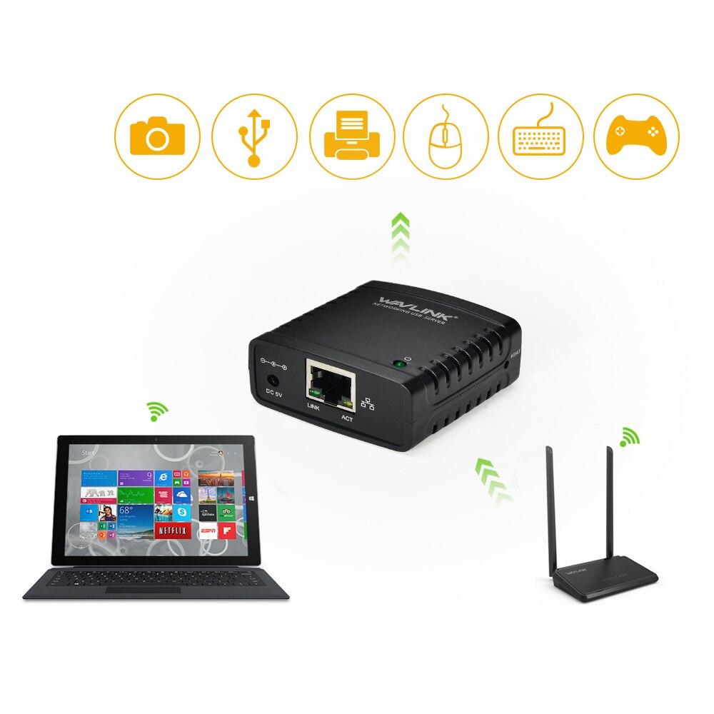 Mini USB 2.0 Сетевой сервер печати 100 Мбит USB HUB LRP принтера Поделиться Сервер LAN Ethernet Адаптеры питания с Оконные рамы для Canon
