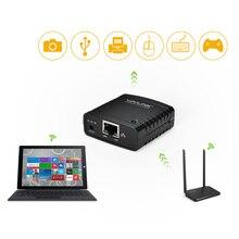 Мини USB 2,0 Сетевой сервер печати 100 Мбит/с USB концентратор LRP Сервер принтера поделиться LAN Ethernet адаптер питания с Windows для Canon
