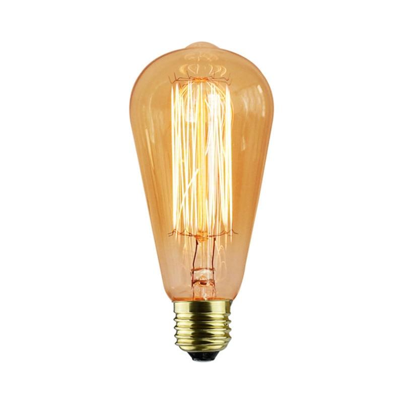 Lights & Lighting Energetic Beautiful 220v E27 Incandescent Bulb 40w Edison St64 Filament Lamp Lampada For Home Decor 6pcs/set