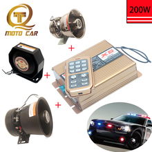 цена на 12V/24V For car Alarm horn Tone Warning Loud Speaker 200W  Wireless Megaphone Police Siren Vehicle MIC System Train Truck Boat