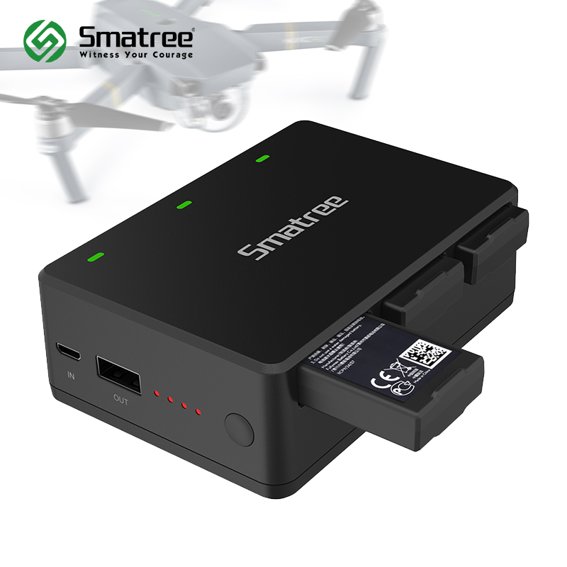 Smatree Battery Charger for DJI Tello Quadcop Portable Battery Charging Station,charge 3 batteries simultaneously tello battery charging hub designed for use with tello flight batteries accommodate up to 3 tello batteries at the same time