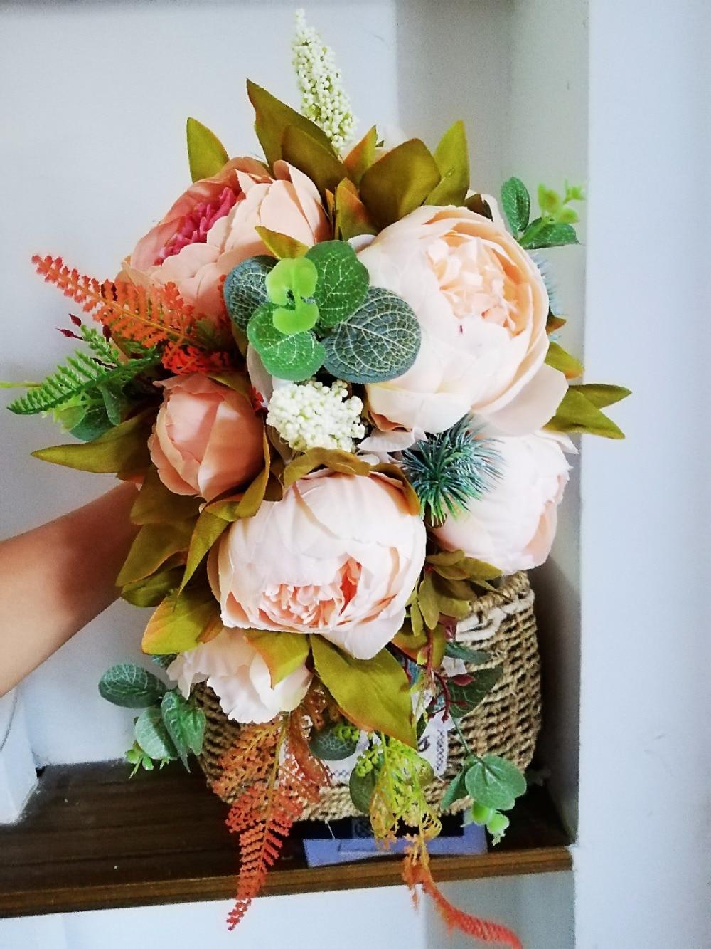 Bouquet Sposa Shabby Chic.Dreamyunz Comprare Nuovo Bella Rosa Bouquet Di Nozze Tutti Fatti