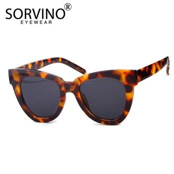 SORVINO Retro Designer Tortoiseshell Cat Eye Sunglasses Women Luxury Brand Classic ladies White Cateye Sun Glasses Shades SP115
