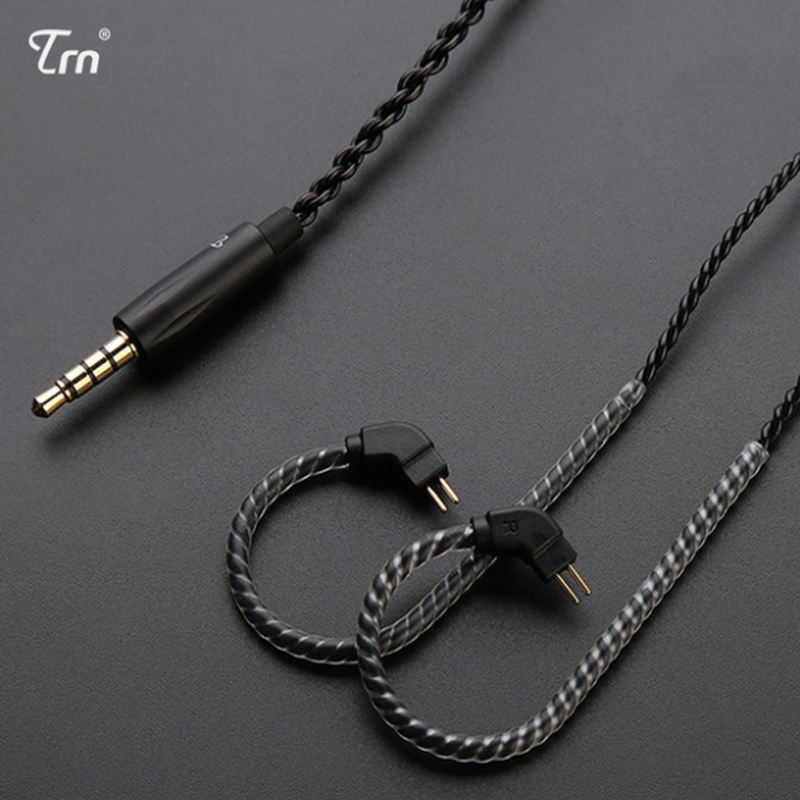 earphone accessories Replacement Earphone Cable 2Pin 0.75mm Upgraded Use For TRN V10 V20 KZ ZS6 ZST ZSR ZS10 Universal