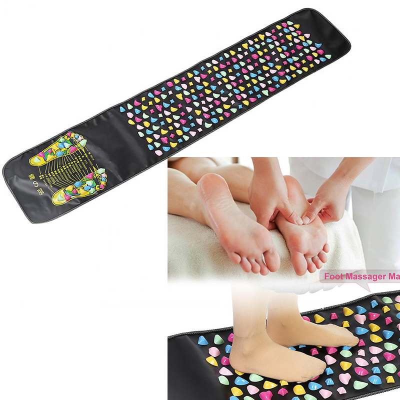 Reflexology Leg Stone Foot Acupoints Massage Mat Pain Relief Feet Walk Relax Massager Health Foot Care Muscle Stimulation Pad newly new 5 rows wheel wooden massager wood roller foot massager relax relief