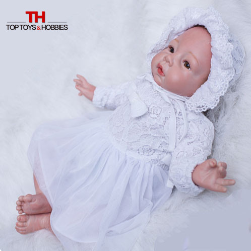 22 inches Newborn Baby Dolls Bebe Reborn Silicone Reborn Dolls Baby Girls Toys Bonecas American Girl Doll 22 inches sweet girl dolls brown hair 55cm doll reborn baby lovely toys cute birthday gift for girls as american girl