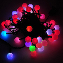 Energy-Saving Balls Shaped Color Changing LED Light String