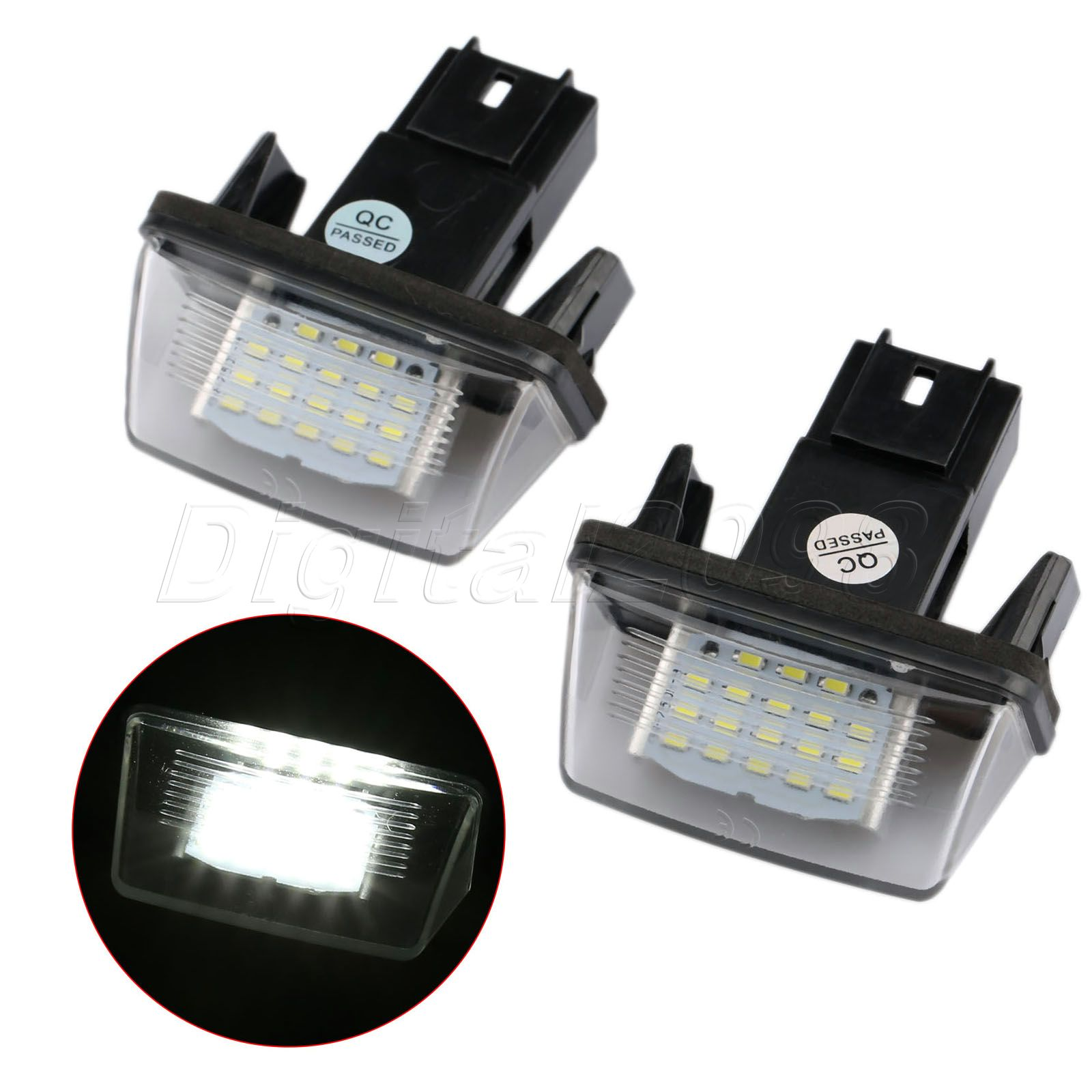 Yetaha 2x LED Car License Number Plate Light Bulb Lamp 18LED 12V Lamp For Peugeot 206 207 306 307 406 Citroen C3 C5 Xsara Saxo led glove box light for peugeot 206 207 306 406 307 406 407 607 806 308 3008 auto led interior bulb 12v led glove box lamp