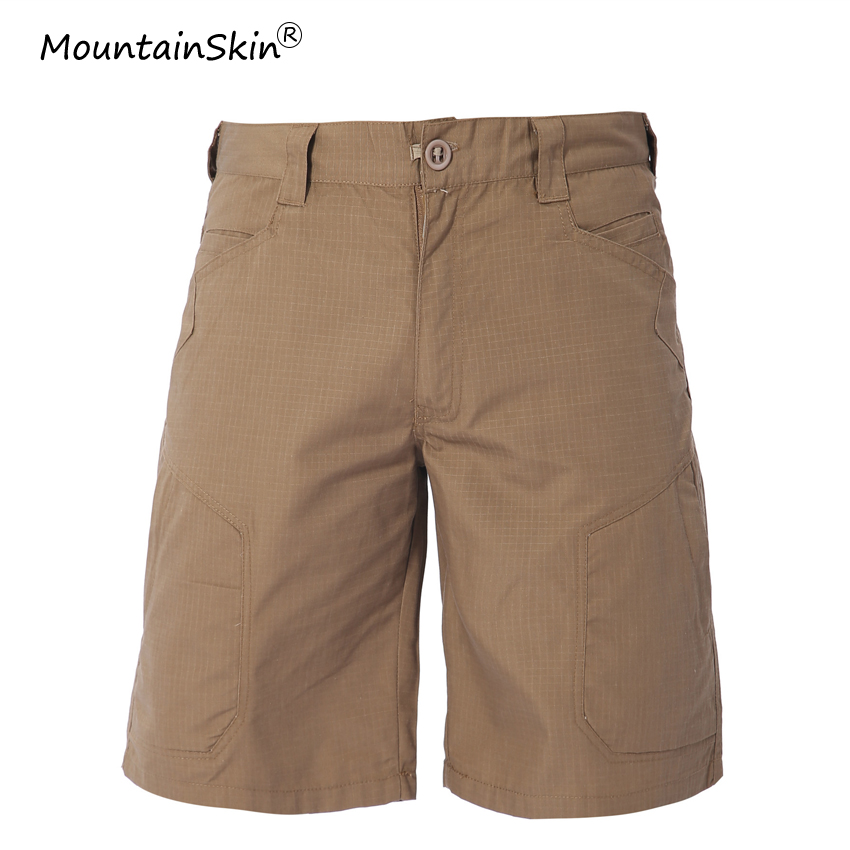 Mountainskin Men Summer Fashion Casual   Shorts   Military Tactical Knee Length   Shorts   Army Cargo   Shorts   Male Brand Clothing LA634