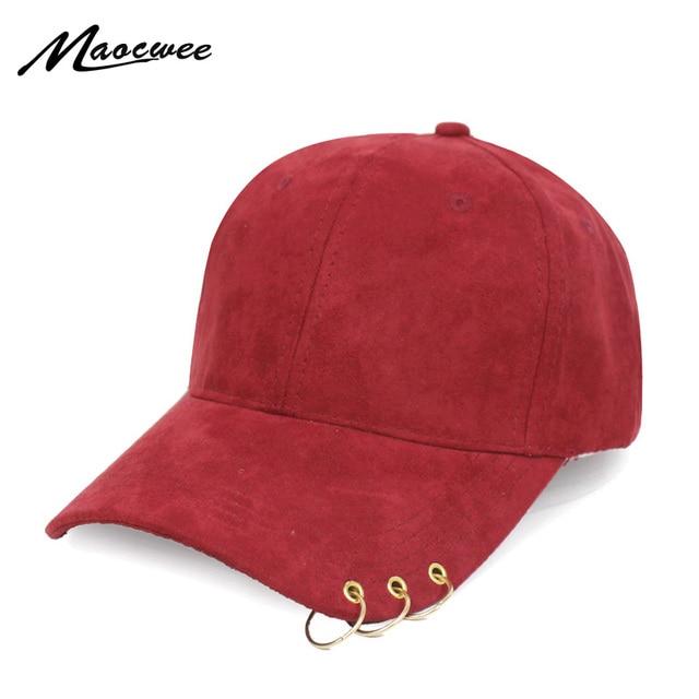 Anillo béisbol Suede hip hop icono color sólido SnapBack sombreros para  hombres mujeres deporte casquette gorras c3153880d76