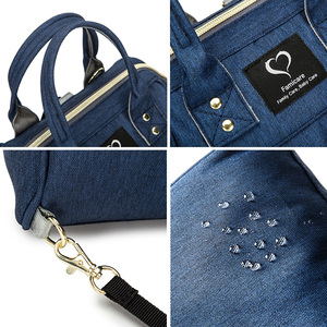 Image 5 - Mini bolsa de pañales para madres, bolsos de bebé para madres, familia, bandolera con correa de hombro extraíble, mochila de maternidad para lactancia