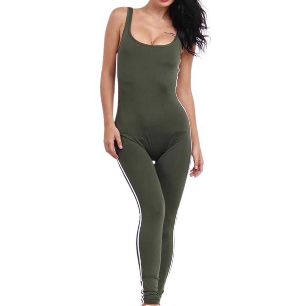 148924c54 Temperament Women Bodycon Pure Color Jumpsuit Leotard Cut Out Hole Legging  Rompers Sexy Tights Outfit Leisure-in Jumpsuits from Women s Clothing on ...