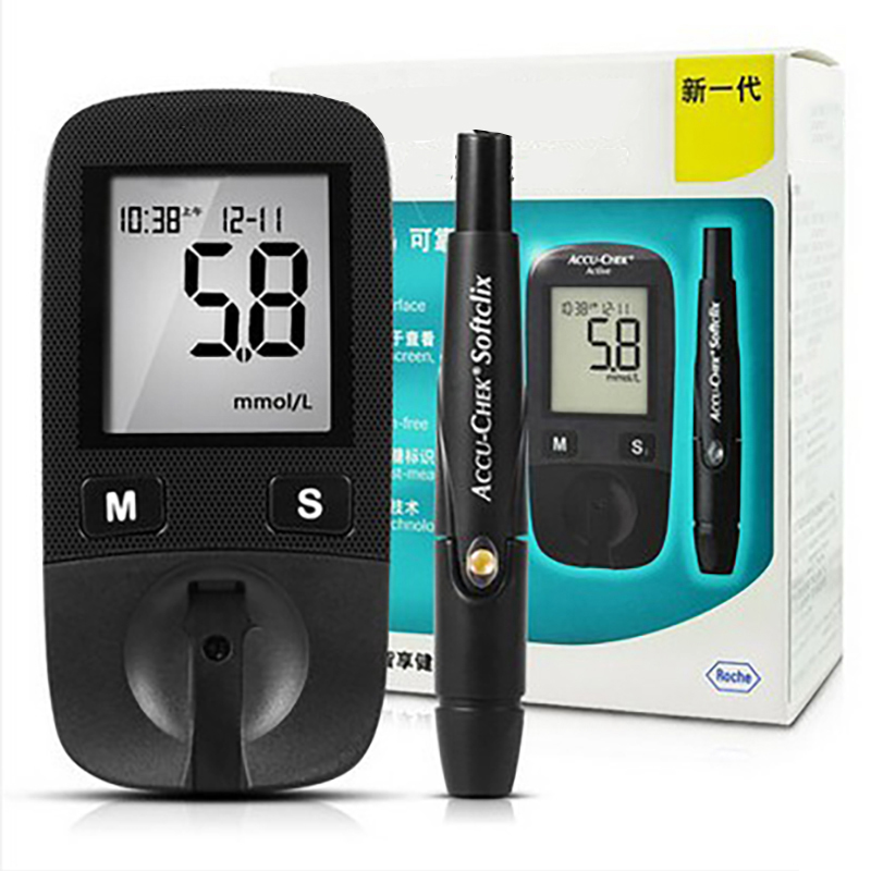 2017 Hot Sale Blood Sugar Tests Accu-Chek Active Blood Glucose Meter With Pen  For Care Blood Test Diabetes Household Monitor glucose meter with high quality accessories urine disease glucose meter test article 50 pc free blood 50 pcs of health care