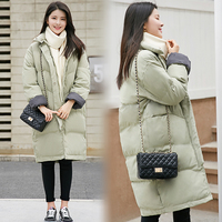Winter Cotton Padded Jacket Female Medium Long Bf All Match Loose Bread Service Thickening Wadded Jacket