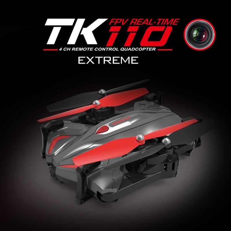 Здесь можно купить  2017 Folding WIFI Camera FPV Drone TK110HW with Automatic Air Pressure High Headless Drone flight track mode   Игрушки и Хобби