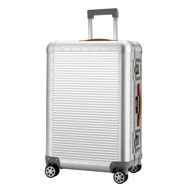 LeTrend 100 Aluminum magnesium alloy Rolling Luggage Spinner Travel Bag Men Business Suitcase Wheels 20 inch