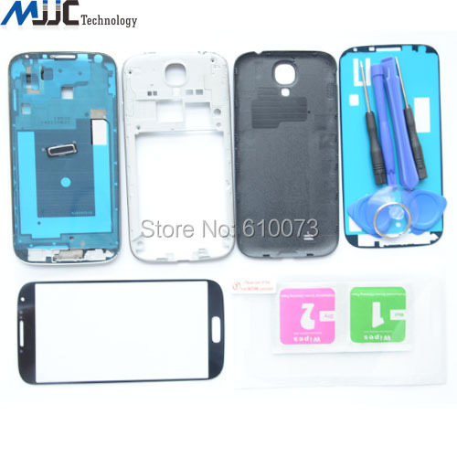 Original Complete Full Housing Replacement Parts For Samsung Galaxy S4 i9500 i9505 i337 Tempered glass Front