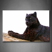 Unframed Wall Art Pictures Black Panther Wood Canvas Print Animal Posters No Frames For Living Room Home Office Decor