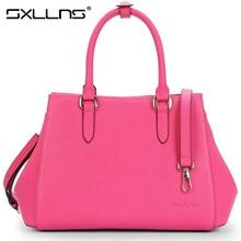 Sxllns Marke Frauen Handtaschen Aus Echtem Leder frauen Umhängetaschen Neue Damen Top Qualität Mode Umhängetasche Freies Verschiffen