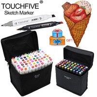Touchfive30 40 60 80 Farben Art Marker Set Fettige Alkoholische Dual Headed Künstler Sketch Farbe Marker Stift Für Animation Manga Design