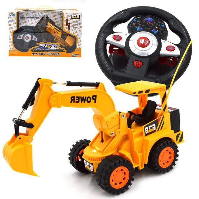 Excavadora de juguete rc 6 canales volante inducción música ingeniería excavadora de control remoto excavadora juguete rc tractor de juguete