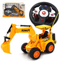 Música de brinquedo de rc 6 canal de volante juguete excavadora engenharia de controle remoto de brinquedo trator