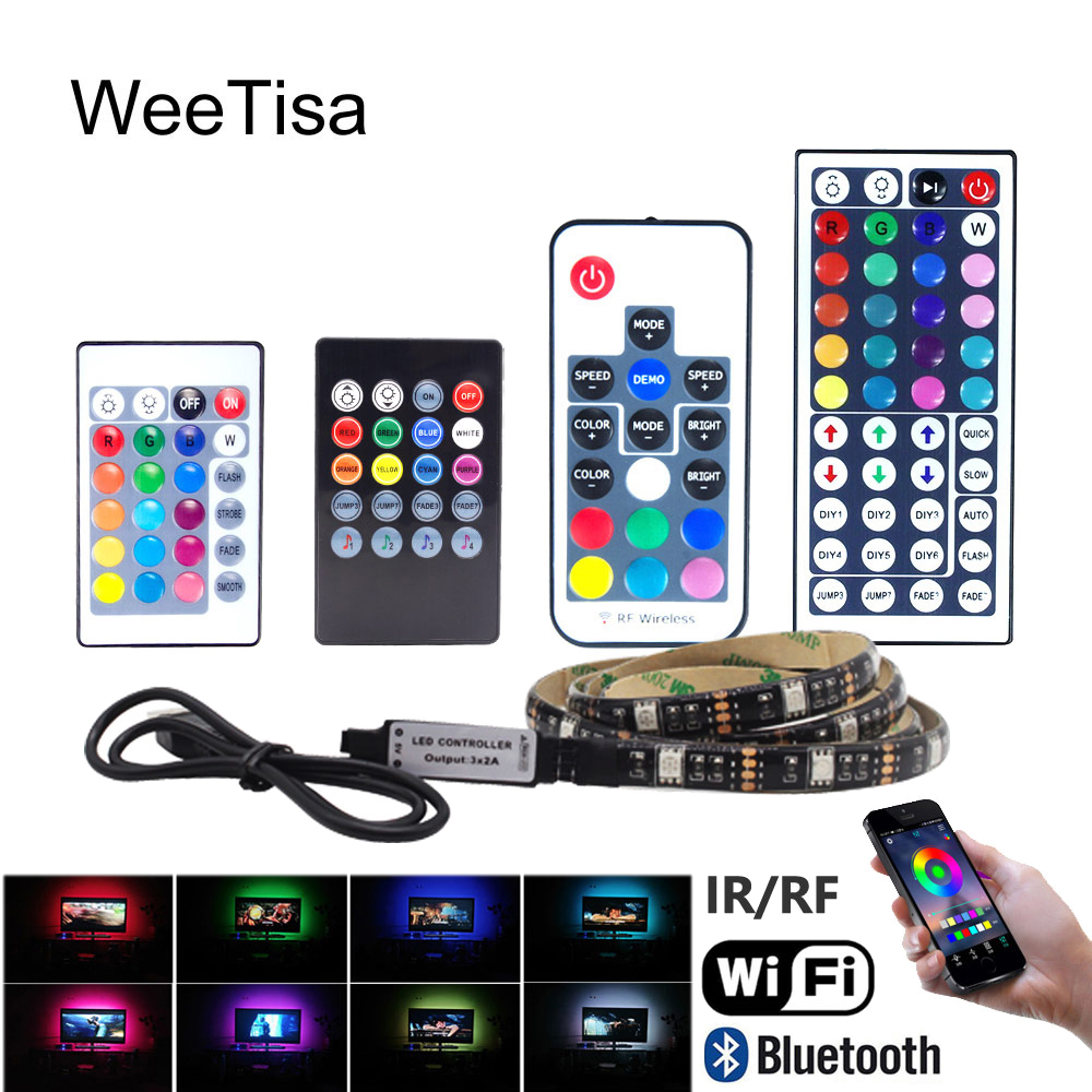 LED Strip USB Bluetooth Wifi Music 5V RGB Waterproof SMD 5050 Ambilight TV Background LED Stripe Tape Ribbon Light For Computer