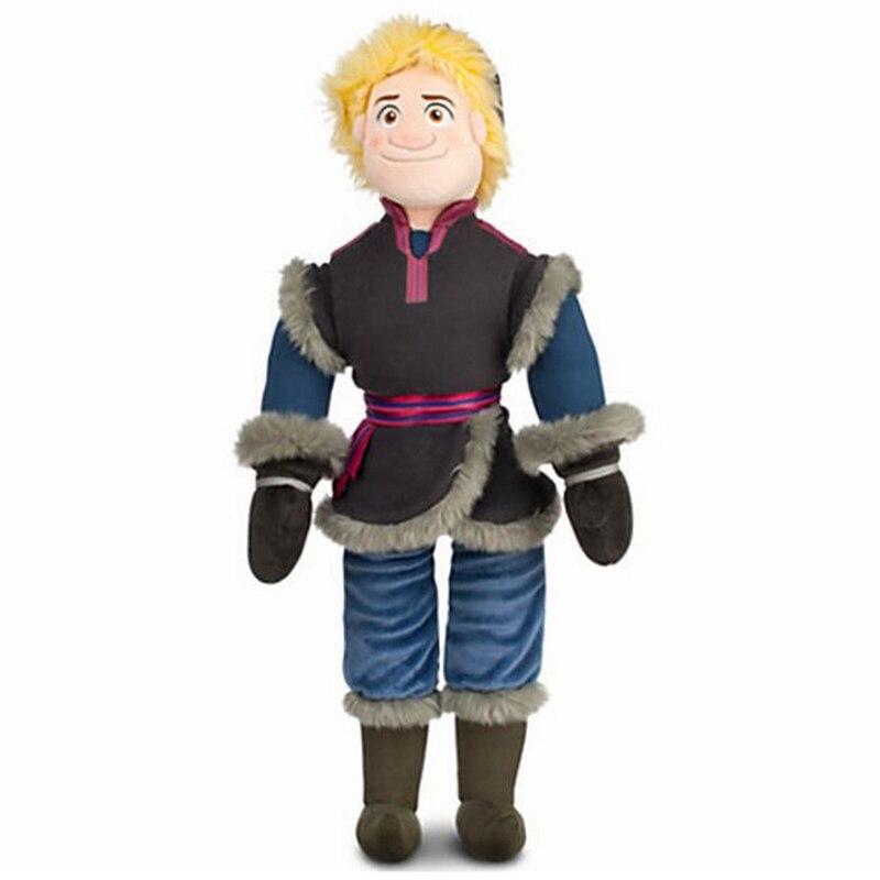 50cm neve rainha kristoff boneca de pelúcia brinquedo princesa elsa anna kristoff pelúcia macio brinquedos para crianças presentes