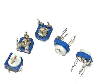 Darmowa wysyłka brand new 100 sztuk partia niebieski biały regulowany rezystor 203 20k poziomy potencjometr tanie i dobre opinie custom-souring Nowy + -10 Stop metali Preset potencjometr 55Cto+125C Blue and white