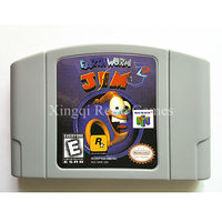 Nintendo 64 Game Earthworm Jim 3D Video Game Cartridge Console Card English Language US Version
