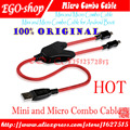 free shipping Mini and Micro Combo Cable for Android Boot