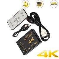 Mini 5 в 1out Порты и разъёмы HDMI Коммутатор HDMI сплиттер HDMI Порты и разъёмы 1080 P видео 4 К HDMI адаптер Conventer для DVD, оборудование для PSP, HDTV