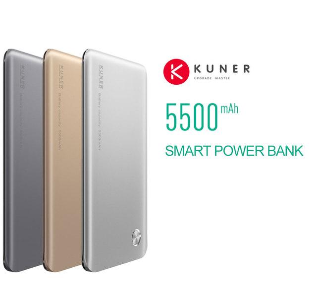 KUNER 5000 mAh Bateria Externa Backup Carregador Caso Power Bank Prolongado Memória Interna Se Encaixa para a Janela do Sistema IOS Android HU880