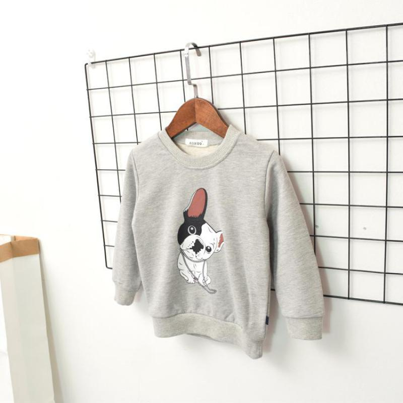 New 2018 Baby Girls Boys Sweatshirts Fashion Long Sleeve Kids Shirt Cartoon Dog Pattern Children Clothes Korean Girl Sweatshirt