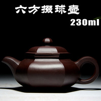 Hexagonal pots Yixing authentic master old purple mud full handmade teapot special