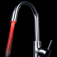 Температурный Датчик 3 Цвет Кухня Водопроводной Воды Кран Glow Душ Светодиодные