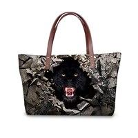 Forudesigns 3d animal print casual sacchetto portatile, grande signora alla moda top-handle borse, di alta qualità borse all'ingrosso made in china