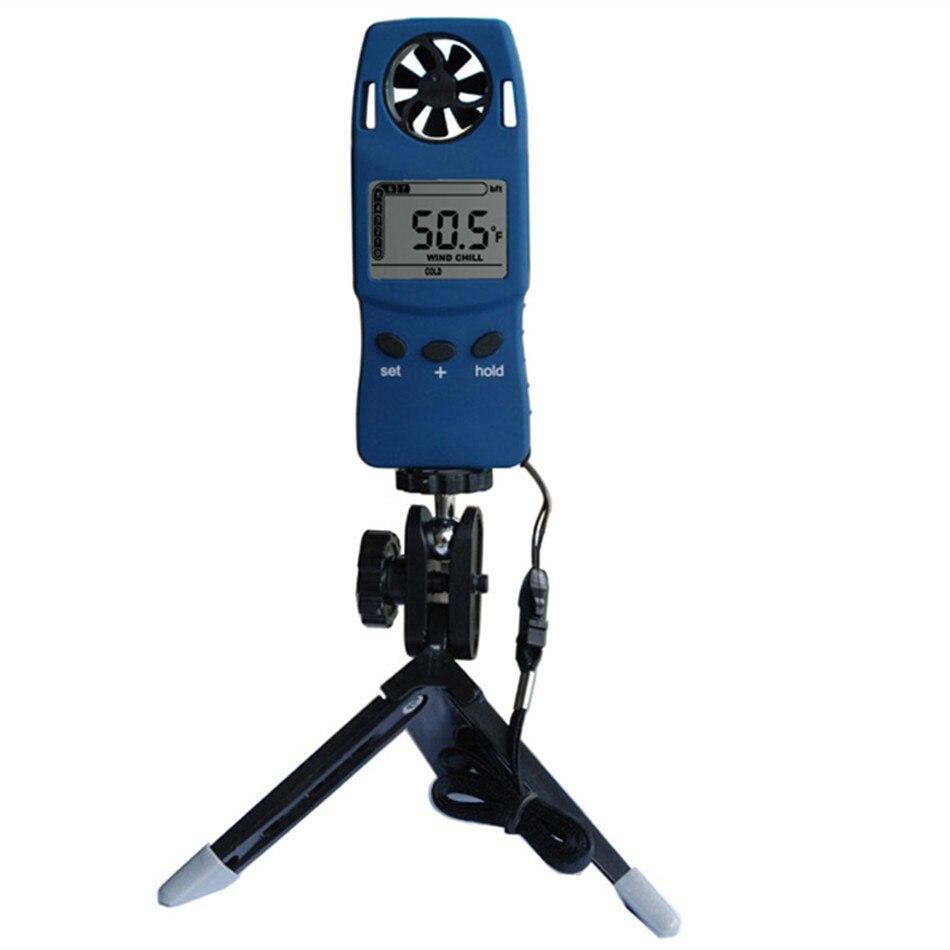 WS-4000 Mini haute précision anémomètre numérique compteur de vent électronique vent froid thermomètre poche de poche