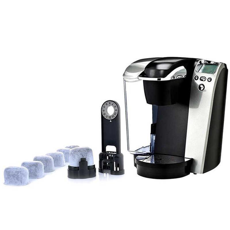 Nuevos filtros de agua de carbón activado de 12 piezas de repuesto para máquinas de café de cocina