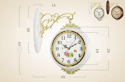 Креативные из цельного дерева-односторонние настенные часы Mute гостиная подвесная батарея пасторальный современный минималистичный насте...