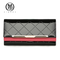 EIMORE Luxury Designe Women   Wallet   Patent Leather Long   Wallet   Female Fashion Purse With Diamonds Card Holder Women Clutch   Wallet