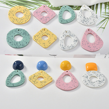 Spring imitation marble grain geometric special-shaped pendant DIY handmade earrings nail Ear Clip material Accessories