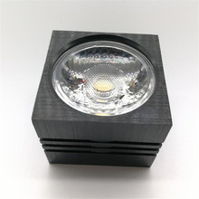 Free Shipping 7w 10w Dimmable COB Led downlight Surface Mounted Ceiling Spot light lamp with black/silver Housing Color
