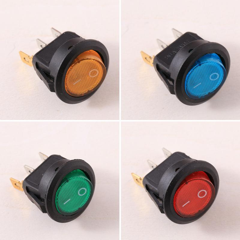 4Pcs Car 220V Round Rocker Dot Boat LED Light Toggle Switch SPST ON/OFF Top Sales Electric Controls 3pcs waterproof led rocker toggle switch on off button led light for car boat buses motorcycles 12v 20a 4pin for ford vw audi