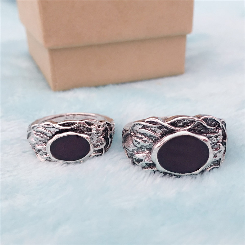 Game Dark Souls 3 Life Rings Cosplay Props Unisex Vintage Ring Black Gem Mosaic Fans Collectibles Accessories Halloween Party