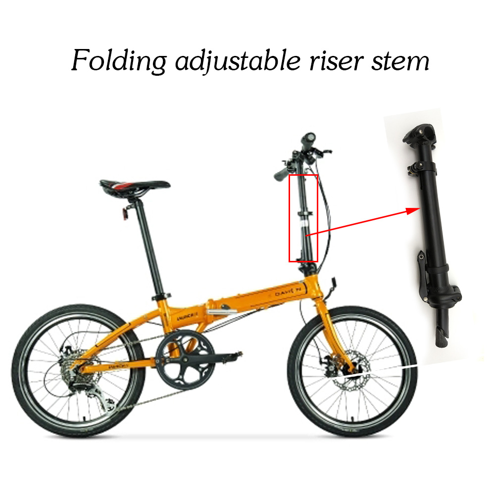 2017 Durable AL 6061 Folding Bike Handlebar Stem Adjustable riser Bicycle Folding Stem bike stem