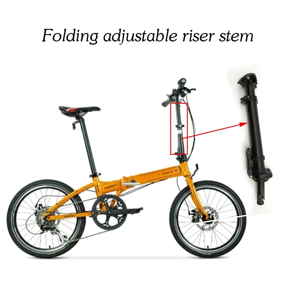цена на 2017 Durable AL 6061 Folding Bike Handlebar Stem Adjustable riser Bicycle Folding Stem bike stem